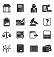 Black Stock exchange and finance icons vector image