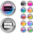 1080p multicolor round button vector image