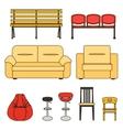 Set of seats-bw vector image