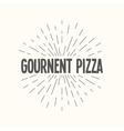 Hand drawn sunburst - gournent pizza vector image