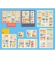 Open refrigerator products set vector image