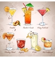 Contemporary Classics Cocktail Set vector image
