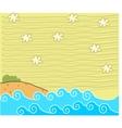 Cute Beach Background vector image