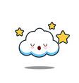 cute cloud kawaii face design vector image