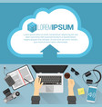 flat design cloud concept vector image