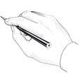 Hand with a pencil vector image