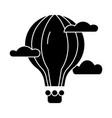 hot air balloon icon sign o vector image