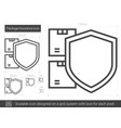 package insurance line icon vector image