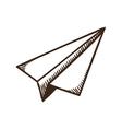 Paper airplane symbol vector image