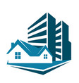 sale of housing symbol for business vector image