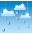 cloud and rain drops vector image vector image