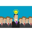 Business man idea vector image