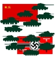 Set of war tanks vector image