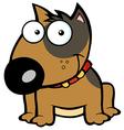 Happy Brown Bull Terrier Sitting vector image vector image