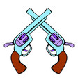 old revolvers icon icon cartoon vector image vector image