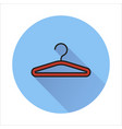 hanger icon isolated on circle background vector image