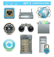 Computer Icons Set 5 vector image vector image