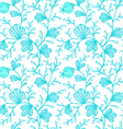 floral pattern blue vector image