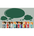 People walking and speech bubbles vector image