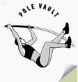 Hand drawn pole vault athlete jumping vector image