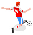 Soccer Striker 2016 Sports Isometric 3D vector image vector image