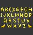banana font vector image