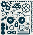 Bike tools vector image