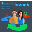 Business communication infographics male female vector image