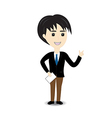 Business man on white background vector image