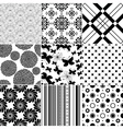 Collection seamless patterns vector image