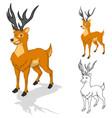Deer Cartoon Character vector image