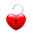 Grossy UnLocked Heart vector image