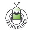 logo robot with two antennas vector image