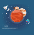 mars jupiter and saturn of solar system design vector image