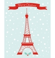 Merry Christmas Paris vector image