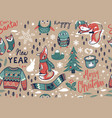 merry christmas seamless pattern with lovely vector image