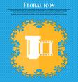 negative films icon symbol Floral flat design on a vector image