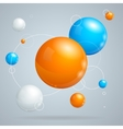 Abstract Background with Colored Balls of vector image vector image