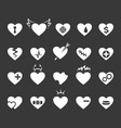 hearts icons healthy and love heart pulse vector image vector image