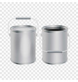blank paint buckets mockup realistic style vector image