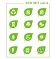 Ecology icon set v4 Leaf nature icons vector image