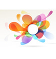 Bright colorful abstract design element vector image