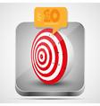 Dart app icon vector image