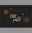 fireworks chic party invitation design vector image