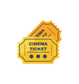 flat style of cinema ticket Isolated on white vector image