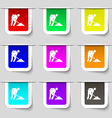 repair of road construction work icon sign Set of vector image