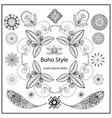 Set ornamental Boho style elements vector image
