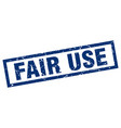square grunge blue fair use stamp vector image