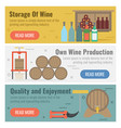 three banner for wine production vector image