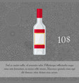 vodka alcoholic beverage card template vector image